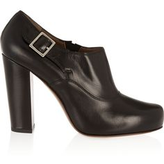 Marni Leather ankle boots ($299) ❤ liked on Polyvore