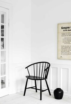 Wooden #chair J64 by FREDERICIA FURNITURE | #design Ejvind A. Johansson #wood