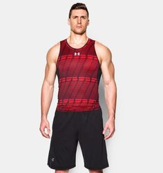 Under Amour Men's compression tank, tank top, men's fitness, athletic wear, gym wear, sports wear, athletic wear, weight loss Mens Fitness, Fitness Apparel, Fitness Clothing, Gym Fitness, Super Hero Shirts, Gym Outfit Men, Sport Outfits, Gym Outfits, Gym Style