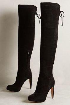 Sam Edelman Kayla Boots Black Boots #anthrofave #anthropologie