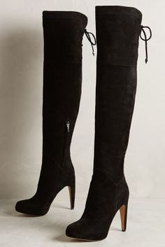 Sam Edelman Kayla Boots Black Boots #anthrofave #anthropologie