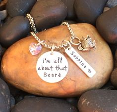 I'm All About That Beard Necklace © | Hunting Necklace | Hunting Jewelry | Turkey Necklace | Turkey Jewelry | Gift For Huntress Or Hunter by SecretHillStudio on Etsy https://www.etsy.com/listing/472256686/im-all-about-that-beard-necklace-o