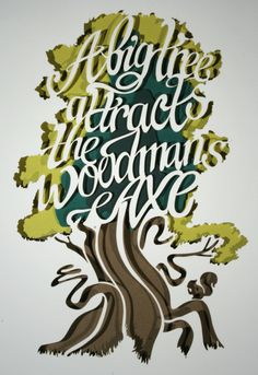 Paper cut typography design made with a paper layed on the top of each other making the typography stand up with the natural colours of the design.