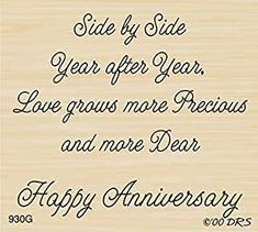Love is More Precious Greeting Rubber Stamp by DRS Designs Anniversary Card Sayings, Wedding Anniversary Quotes, Anniversary Message, Happy Anniversary Wishes, Anniversary Quotes For Parents, Silver Anniversary, Birthday Verses, Birthday Card Sayings, Birthday Messages