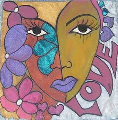 Mixed Media Faces, Face Art, Art Faces, Custom Bags, Stone Art, All The Colors, Aurora Sleeping Beauty, Arts And Crafts, African
