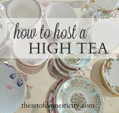 thinking about hosting a tea party, do you find yourself overwhelmed with thoughts of scenes from Alice in Wonderland, Victorian decor, Royal ladies and pinky fingers stuck up in the air? Well, I am breaking it down for you into an easy step by step guide Tea Party Menu, Tea Party Table, Food For Tea Party, Party Party, Party Games, Royal Tea Parties, Vintage Tea Parties, Victorian Tea Party, Victorian Decor