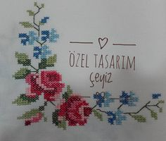 Hand Embroidery Patterns, Cross Stitch Embroidery, Cross Stitch Patterns, Cross Stitch Flowers, Diy And Crafts, Bullet Journal, Pillows, Mini Mini, Bed Spreads