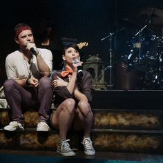 Dylan Saunders, Jaime Lyn Beatty | Team Starkid | Photo by Lucy-Jayne Copley on Flickr