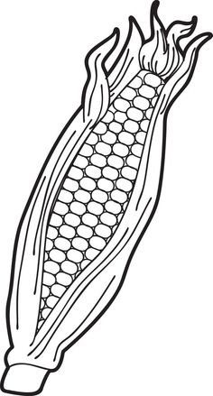 Corn On the Cob Coloring Page Fresh Free Printable Ear Of Corn Coloring Page for Kids Free Thanksgiving Coloring Pages, Pumpkin Coloring Pages, Fall Coloring Pages, Coloring Sheets For Kids, Space Coloring Pages, Preschool Coloring Pages, Pumpkin Printable, Templates Printable Free, Fall Paint Colors