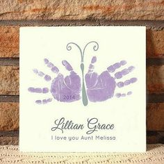 Items similar to Flower and butterflies - Handprint Art by Forever Prints. on Etsy Kids Crafts, Daycare Crafts, Baby Crafts, Toddler Crafts, Crafts To Do, Preschool Crafts, Arts And Crafts, Family Crafts, Handprint Butterfly