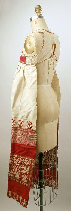 Apron Date: 19th century Culture: Russian Medium: linen, cotton