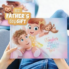 "Ruby, vil du alltid være min lille jente"", en perfekt Farsdag gave! Cool Fathers Day Gifts, Fathers Day Crafts, Daddy Gifts, My Little Girl, Little Ones, Personalized Books For Kids, My Bebe, Good Good Father, Baby Disney"