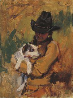 A Girl's Best Friend || Nancy Boren Oil ~ 12 x 9