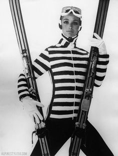 Skiing outfit designed by a Paris dressmaker specialized in sports wear.  10/28/1965 Press Photo.