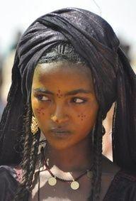 person. a Touareg girl