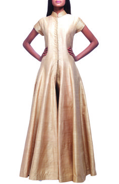 Long dresses by designers on stylearrest.com #gold #shimmer #gown #long #designer #model #Indian