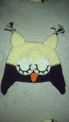 Crocheteando con Imaginación: Gorro Buho a crochet