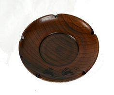 Wooden 4. 0 Saucer plum type rabbit carved lacquer coating 001-583fs2gm