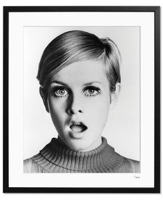 Christmas gift for her: Twiggy Limited Edition Print £99 | made.com