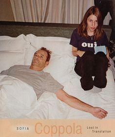 Bill Murray and Sofia Coppola during the filming ofLost in Translation