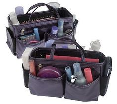 Qvc Makeup Organizer Extraordinary Set Of 2 Microfiber Bag Organizerslori Greiner  Qvc Bag And Nice Design Ideas