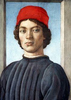 Filippino Lippi. Portrait of a Youth, c.1485