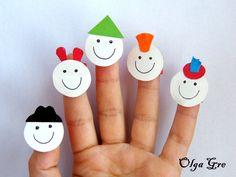 Поделки из бумаги с детьми. Братья-пальчики своими руками.