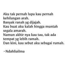 Puisi pendek. Kumpulan puisi. Sajak. Cinta. Puisi by Ndahliailma.