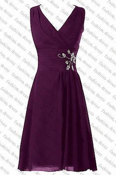 STOCK New Short Bridesmaid Dress Formal Party Ball Prom Evening Wedding Size6-18
