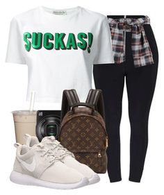 Sao Paulo Trip #1 by champagnayegang on Polyvore featuring polyvore fashion style Être Cécile NIKE Louis Vuitton Nikon clothing
