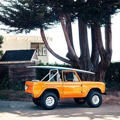 Dream car... #bronco #fordbronco #california #surf #orange #ontheroad