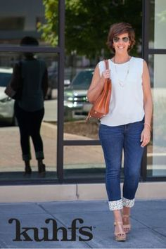 Here are a few outfit ideas for remixing what you already own! Kuhfs   Women's fashion accessory   spring fashion   jeans