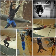 Trapeze School of Chicago is a great time with the kids