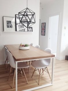 "This Nordic-inpired dining room is our most re-pinned pin on our Pinterest board.  We found it on Apartment Therapy in a post titled, ""Dani's lovely Canadian Condo"". Image credit: Dani"