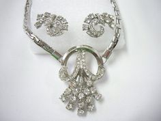 Vintage Art Deco Silver Rhinestone Wheat by YourVintageDesires, $42.00