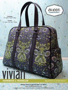 Swoon Sewing Patterns - Vivian Handbag & Traveler
