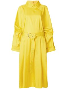 Shop Marques'almeida oversized belted dress.