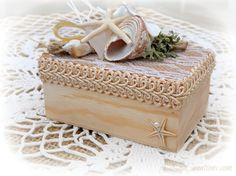 Ring Bearer's Box  Beach Wedding Ring Holder / by A2SeaCreations
