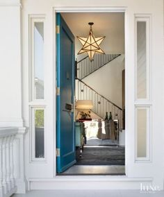 A Pacific Heights, CA home's Victorian front door. | See MORE at www.luxesource.com | #luxemag | #interiordesign #design #interiors #decor