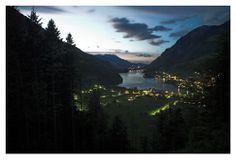 Obwalden, Der Lungerersee bei Sonnenuntergang