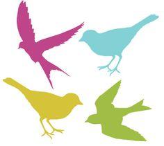 Bird silhouettes for shrinky dinks? by SAburns Bird Stencil, Damask Stencil, Stencil Patterns, Bird Patterns, Silhouettes, Illustrations Vintage, Shrink Art, Bird Silhouette, Bird Crafts