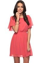 Flutter Sleeve Dress by Forever 21