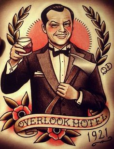 Jack Nicholson in 'The Shining', by Jack Torrence, Illustration, Tattoo Art.