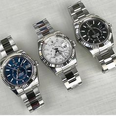 Mens Luxury Watches Ceramic Bezel Sapphire Glass Luminous Quartz Silver Gold Two Tone Stainless Steel Watch (Gold Blue) – Fine Jewelry & Collectibles Breitling Watches, Rolex Watches For Men, Luxury Watches For Men, Sport Watches, Wrist Watches, Dream Watches, Cool Watches, Mens Designer Watches, Rolex Date