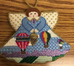 painted Pony hot air balloon needlepoint angel