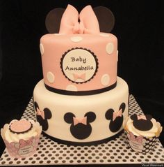 Minnie Mouse Babyshower - Cake by Katie Cortes