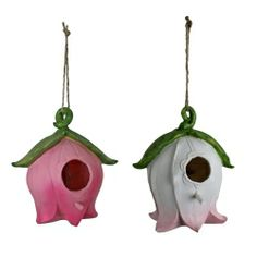Cute Blossom Shaped Hanging Bird House - Two Styles Available Garden Ornaments & Accessories #gardening #nature www.gardens2you.co.uk