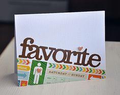 Favorite Card #mailebelles #americancrafts