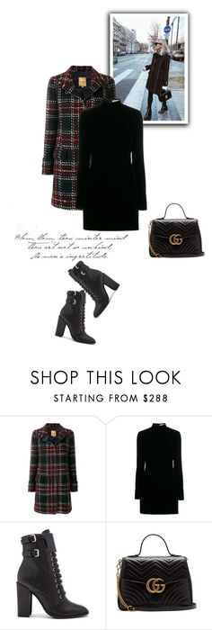 """""""Без названия #8774"""" by bliznec ❤ liked on Polyvore featuring FAY, Yves Saint Laurent, Schutz and Gucci"""