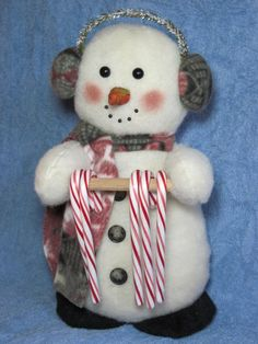 Snowman Candy Cane Holder - Snowman Pattern 640 $9.00